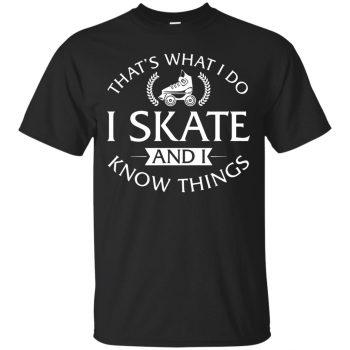roller skating t shirts - black
