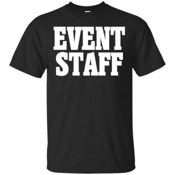 event staff shirts - black