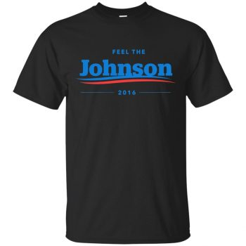 gary johnson t shirt - black