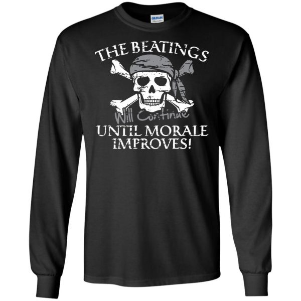 the beatings will continue until morale improves long sleeve - black