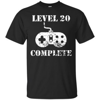 20th birthday shirts - black