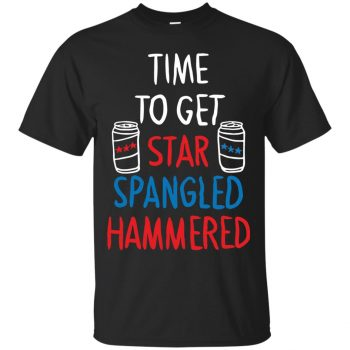 star spangled hammered shirt - black