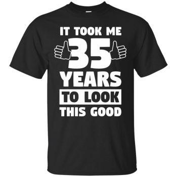 35th birthday shirts - black