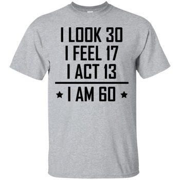60th birthday t shirts - sport grey