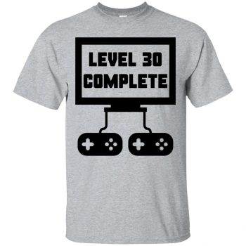 30th birthday t shirts - sport grey