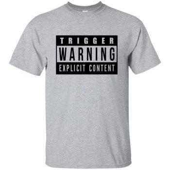 trigger warning shirt - sport grey