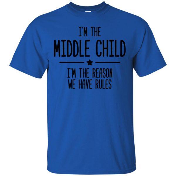 middle child t shirt - royal blue