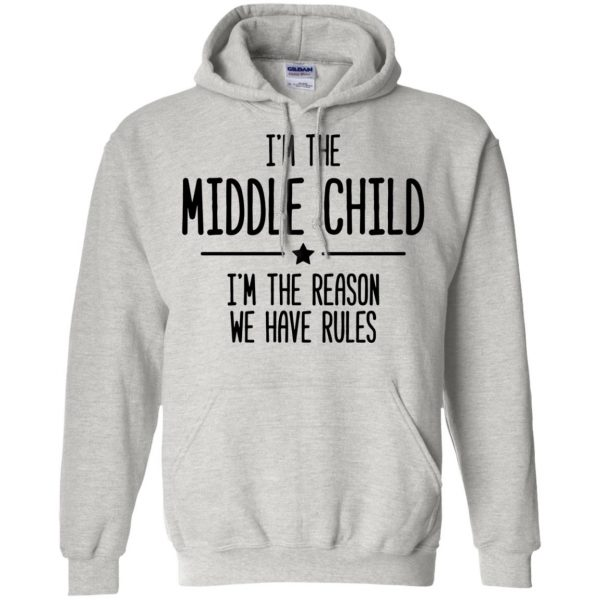 middle child hoodie - ash