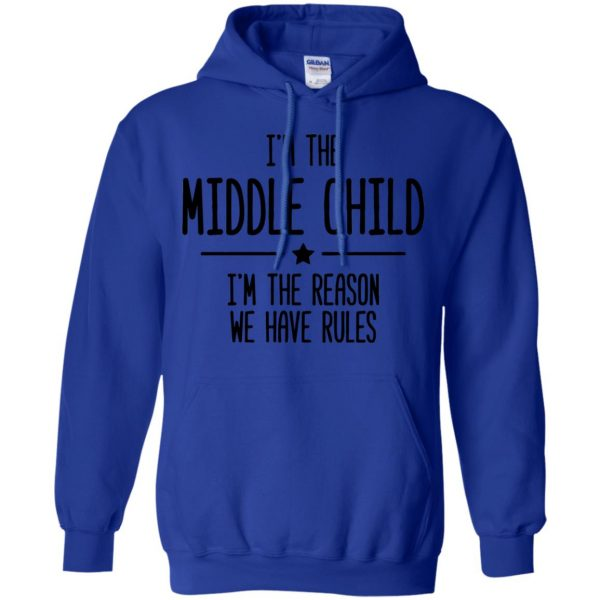 middle child hoodie - royal blue