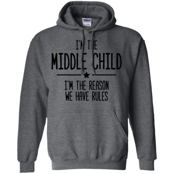 middle child hoodie - dark heather