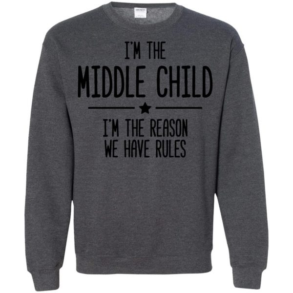 middle child sweatshirt - dark heather