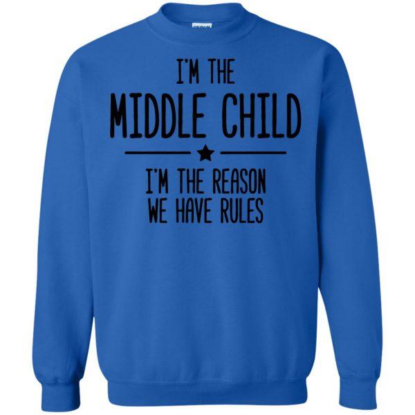 middle child sweatshirt - royal blue