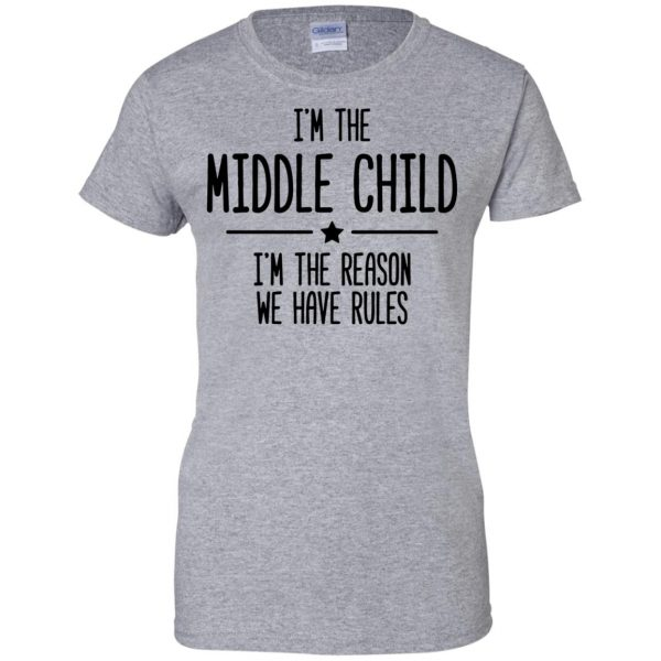 middle child womens t shirt - lady t shirt - sport grey