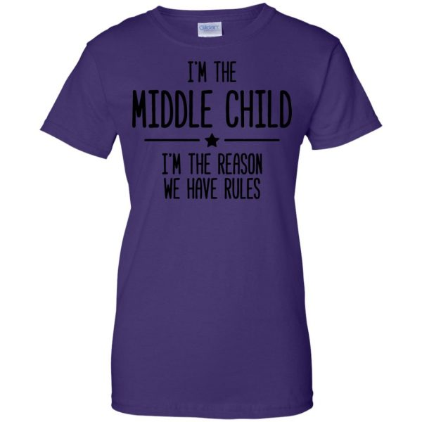 middle child womens t shirt - lady t shirt - purple