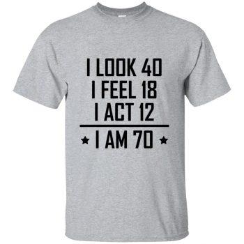 70th birthday t shirts - sport grey
