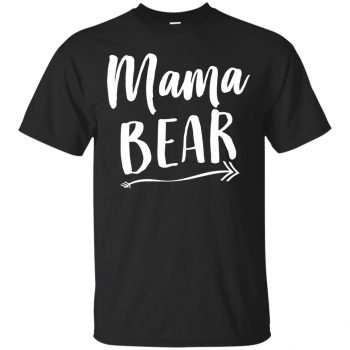 mama bear hoodies - black