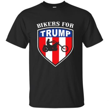 bikers for trump t shirt - black