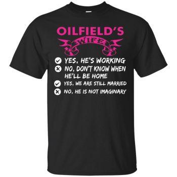 oilfield wife shirts - black