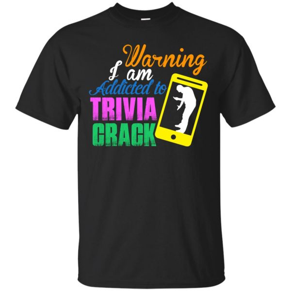 trivia crack t shirt - black