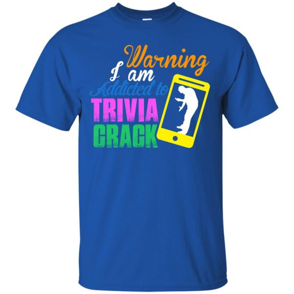 trivia crack t shirt - royal blue