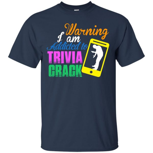 trivia crack t shirt - navy blue