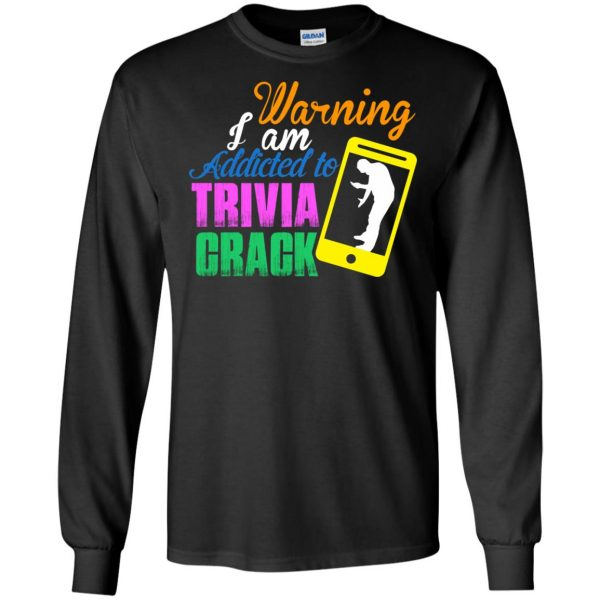 trivia crack long sleeve - black