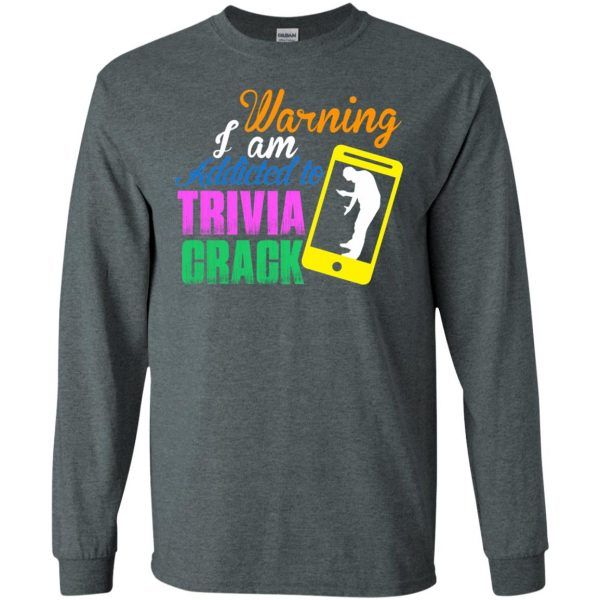 trivia crack long sleeve - dark heather