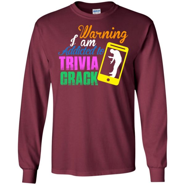 trivia crack long sleeve - maroon