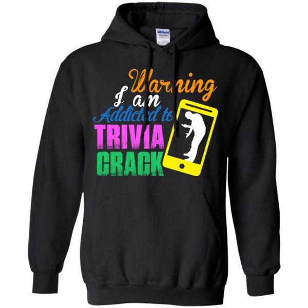 trivia crack hoodie - black