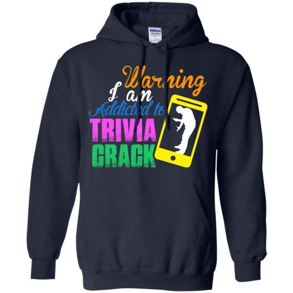 trivia crack hoodie - navy blue