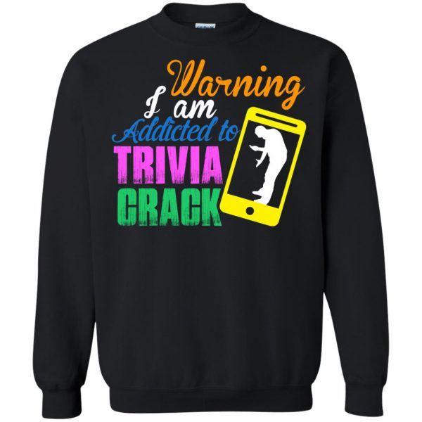 trivia crack sweatshirt - black