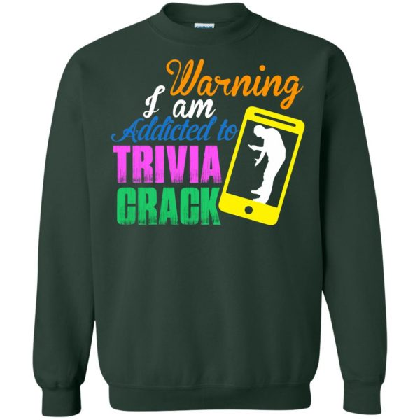 trivia crack sweatshirt - forest green
