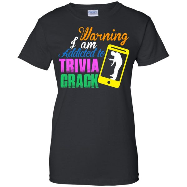 trivia crack womens t shirt - lady t shirt - black