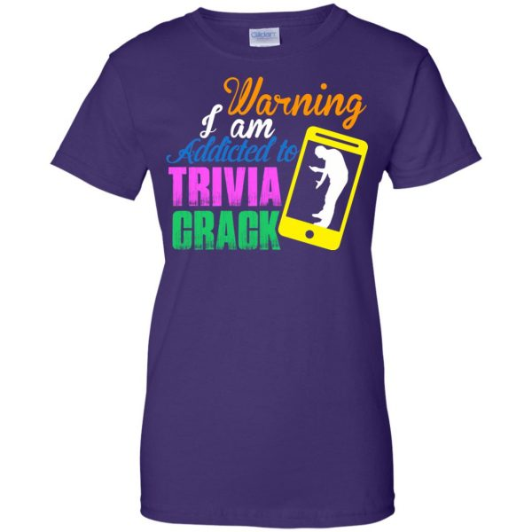trivia crack womens t shirt - lady t shirt - purple