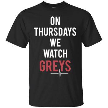 on thursdays we watch greys sweatshirt - black