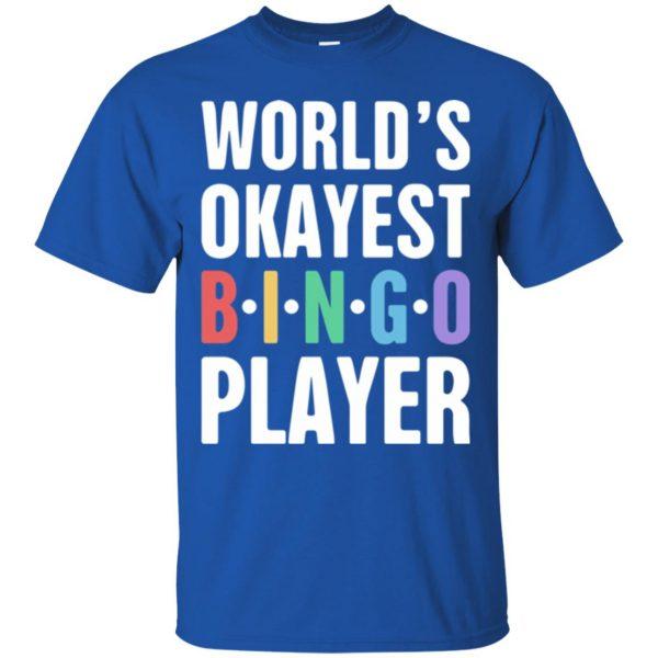 funny bingo t shirt - royal blue
