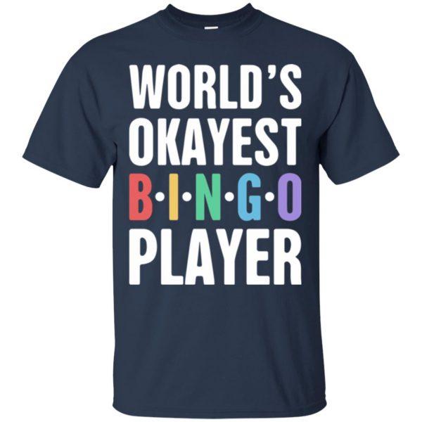 funny bingo t shirt - navy blue