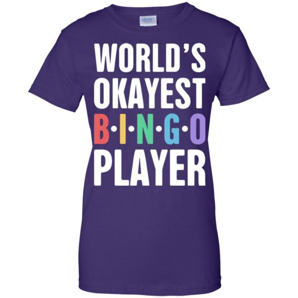 funny bingo womens t shirt - lady t shirt - purple