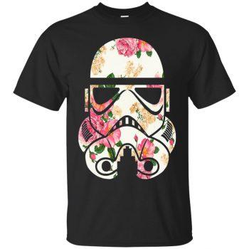 stormtrooper floral shirt - black