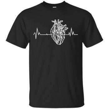 anatomical heart tshirt - black