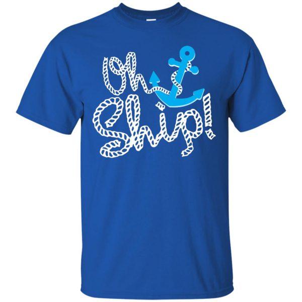 oh ship t shirt - royal blue