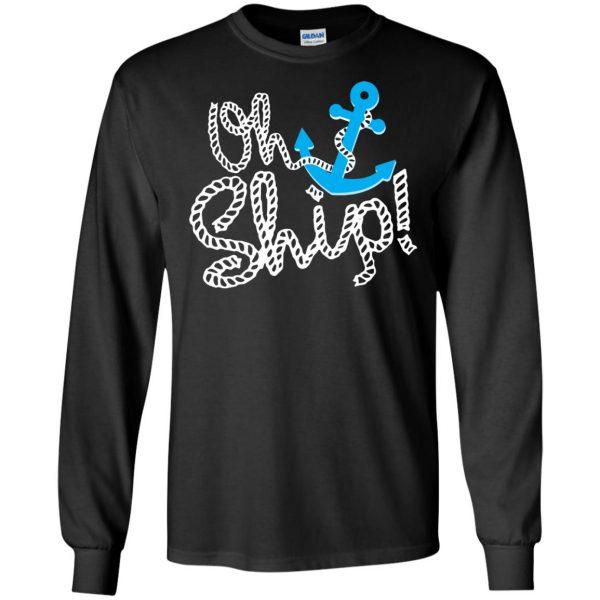 oh ship long sleeve - black