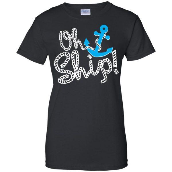 oh ship womens t shirt - lady t shirt - black
