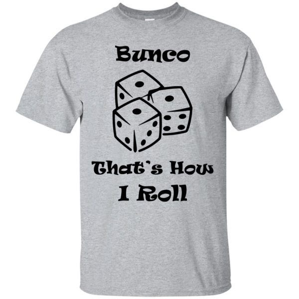 bunco t shirts - sport grey
