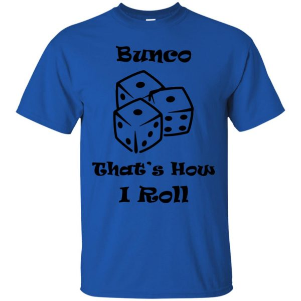 buncos t shirt - royal blue