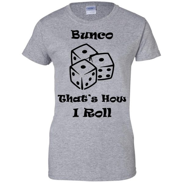 buncos womens t shirt - lady t shirt - sport grey