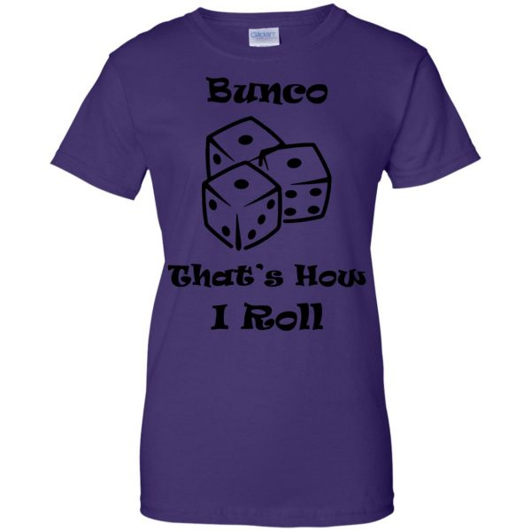 buncos womens t shirt - lady t shirt - purple
