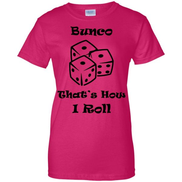 buncos womens t shirt - lady t shirt - pink heliconia