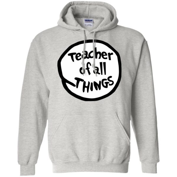 teacher of all things hoodie - ash