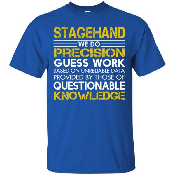 stagehand t shirt - royal blue